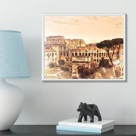 Колизеумът в Рим - Картина за стена Принт в рамка