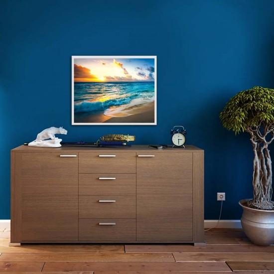 Картина, постер в рамка за стена Изгрев над брега Залез над брега - Картина