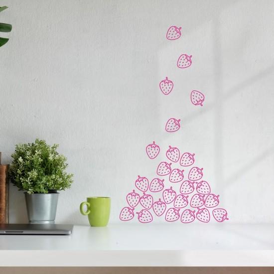 стикер за декорация на стена ягодки