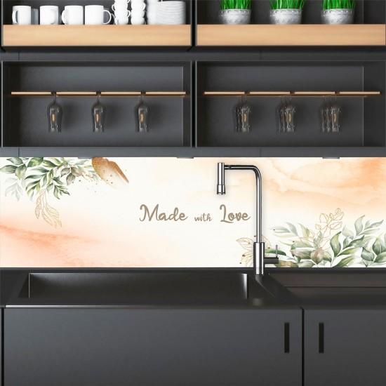 ПВЦ Фолио за гръб за кухня Акварел с цветя