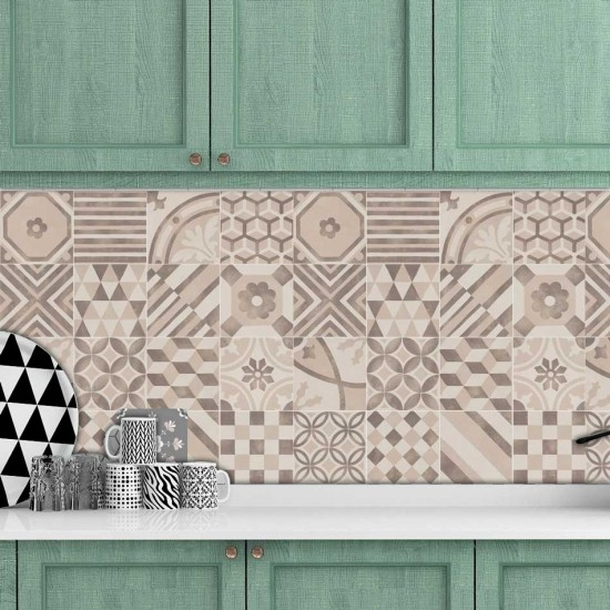 Бежов микс - декоративен Гръб за кухня