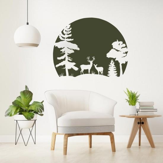 стикер за декорация гора
