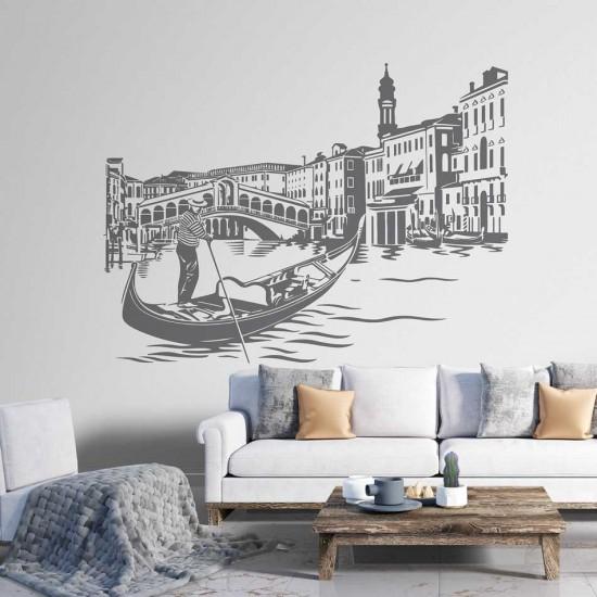 Декорация със стикер за стена Венеция Италия