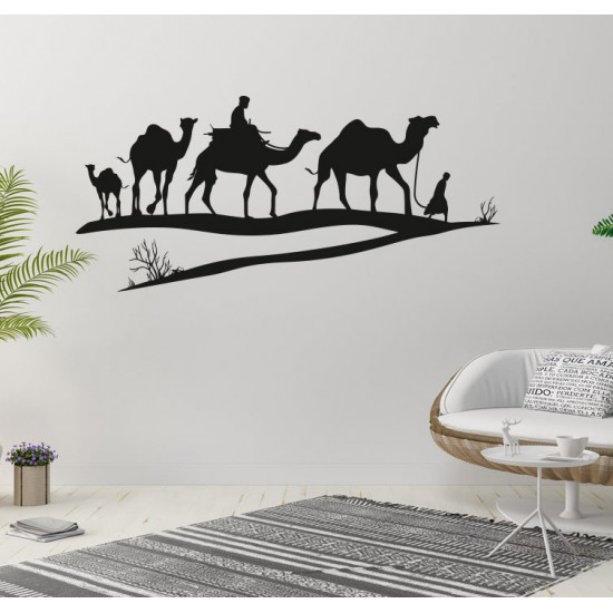 стикер за стена с камили
