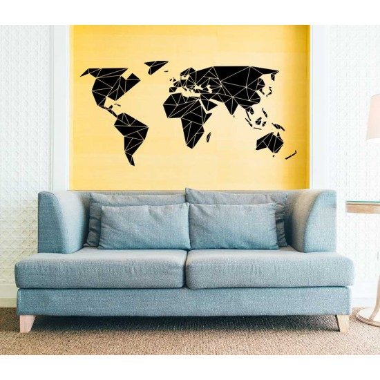 арт карта на света за лепене на стена