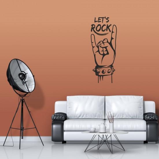 Рок Стикер за стена