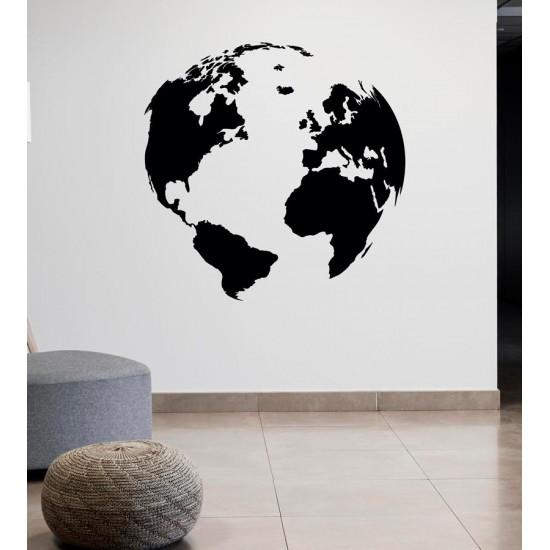 Земно кълбо - стикер