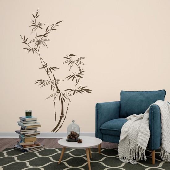 бамбукови клонки стикер за декорация за стена