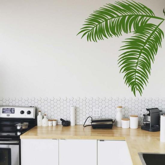 стикер листа от палма за декорация на стена