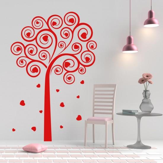 Стикер Дърво със сърца