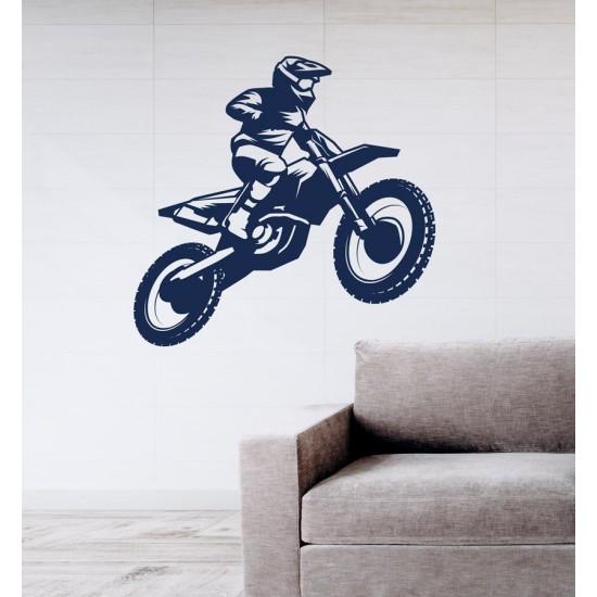Мотокрос - стиекр за стена