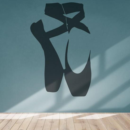 стикер с балетни обувки