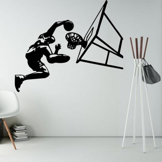 стикер баскетболист забивка