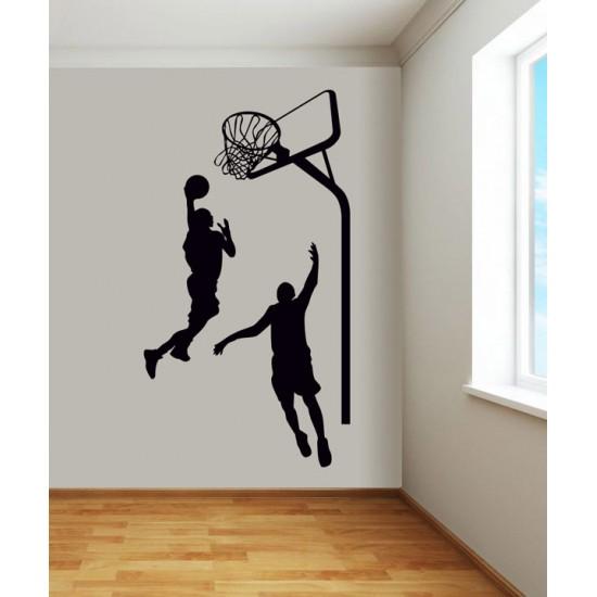 Стикер за стена Баскетболисти и кош