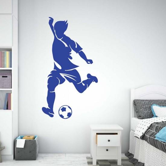 стикер за стена футболист