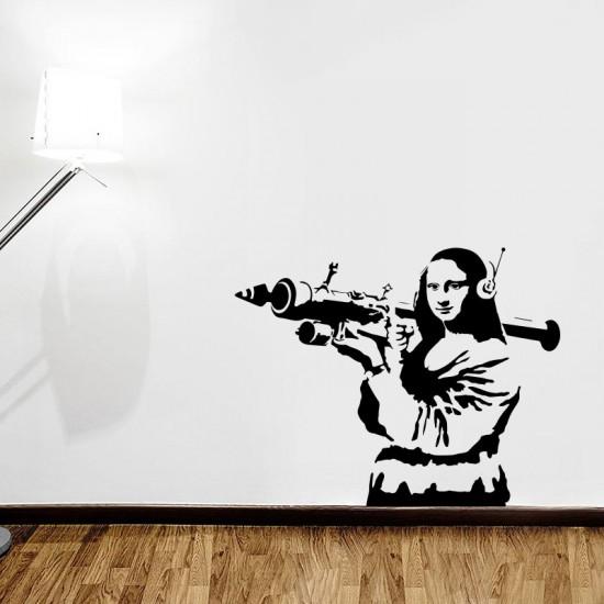 стикер за стена мона лиза арт