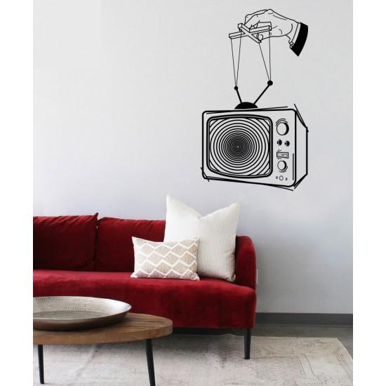 стикер за стена стар телевизор