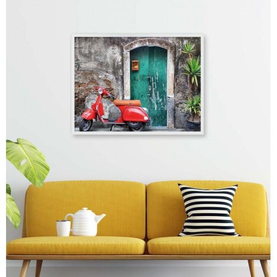 Скутер Vespa - Фото пано - Фото картина, фото кадър, Принт в рамка, улична фотография