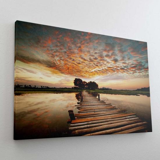 Мост над вода - Фото пано - Картина пейзажна - Фото картина, фото арт