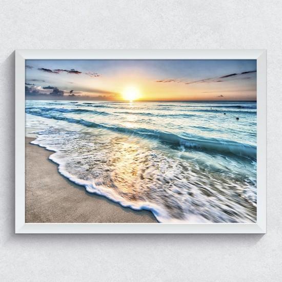 Вълна по брега - Фото пано - Картина пейзажна - Фото картина, фото арт
