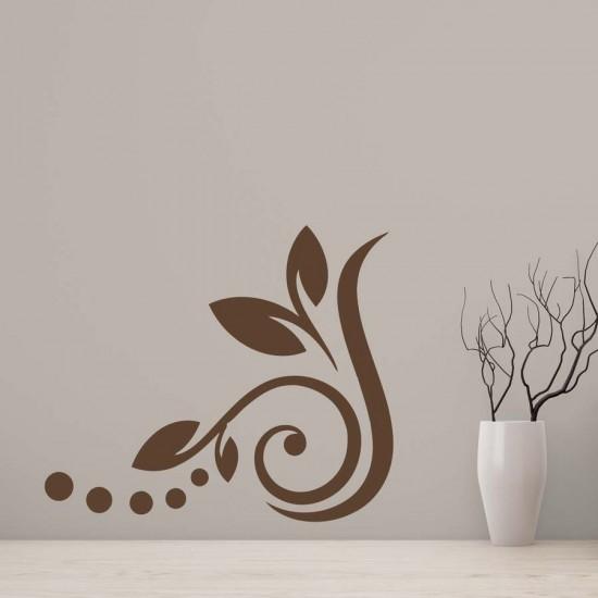 Орнамен за ъгъл - флорален стикер
