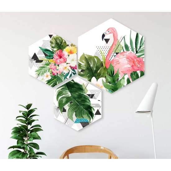 пано за декорация с фламинфо