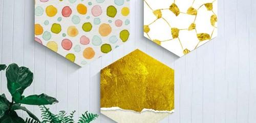 Декорация за стена - хексагон