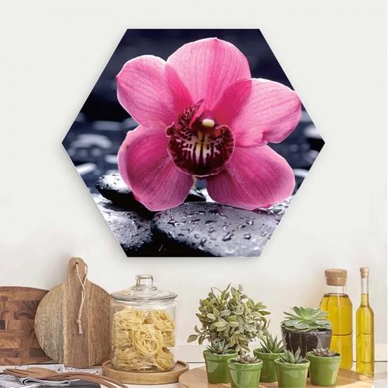 Орхидея релакс - Хексагон, пано за декорация на стена