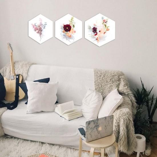 пана за декорация на стена с цветя