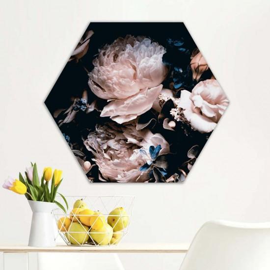 Тайна градина - Хексагон, пано за декорация на стена