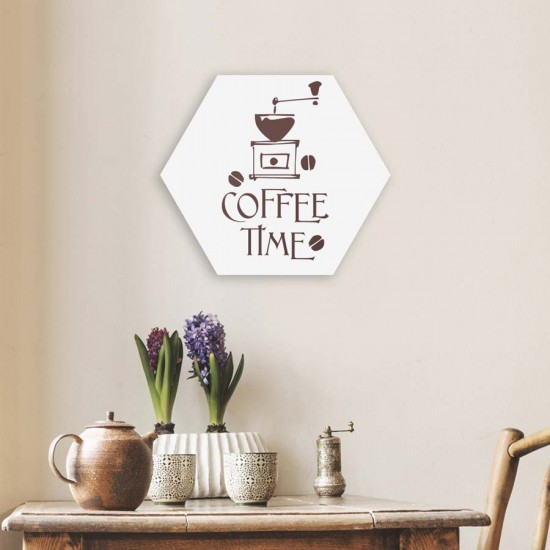 Coffee Time - Хексагон пано за декорация на стена