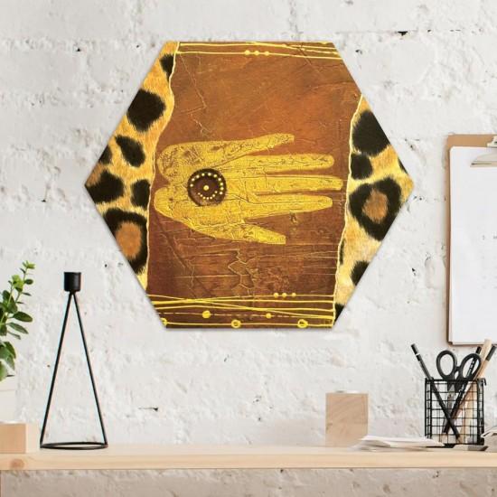 Докосване с Африка - Хексагон пано за декорация на стена