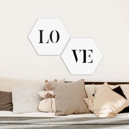 Надпис LOVE - пана с текст