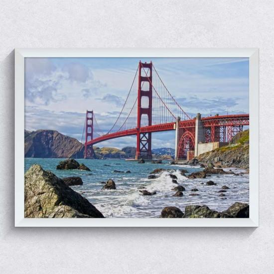Голдън Гейт Бридж - Сан Франциско - Фото пано