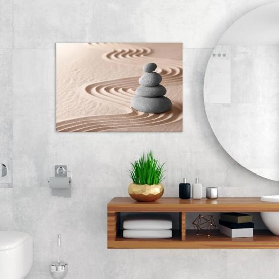 Дзен камъчета Релакс  - Фото пано - картина за баня, йога център