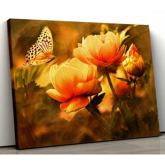 Картина Цвете и пеперуда