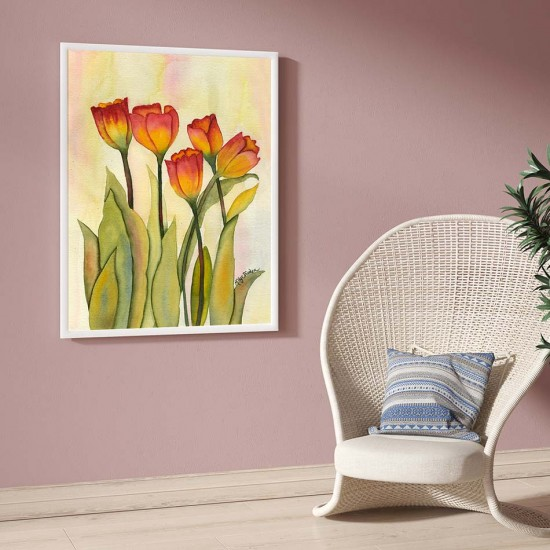 картина с цветя лалета