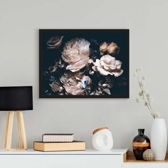 Картина с божури и рози