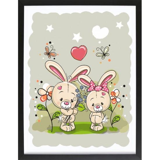 Детска картина зайчета