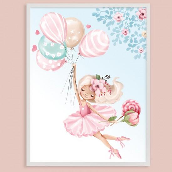 детска картина сладък балет - Принт в рамка