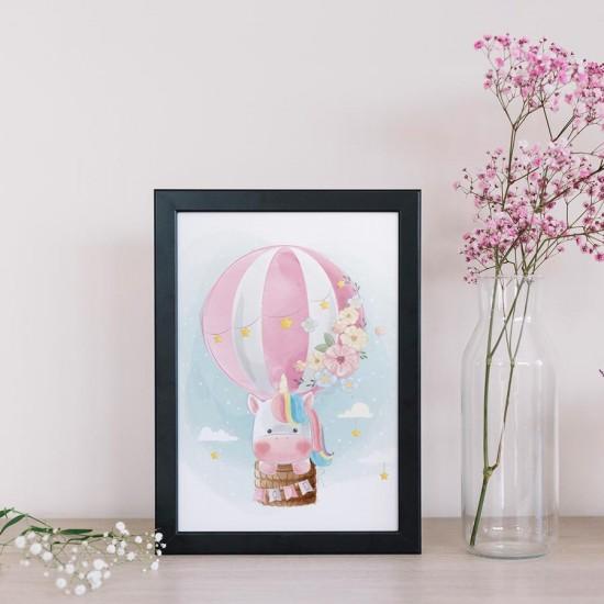 Въздушен еднорог - Принт в рамка пано за стена