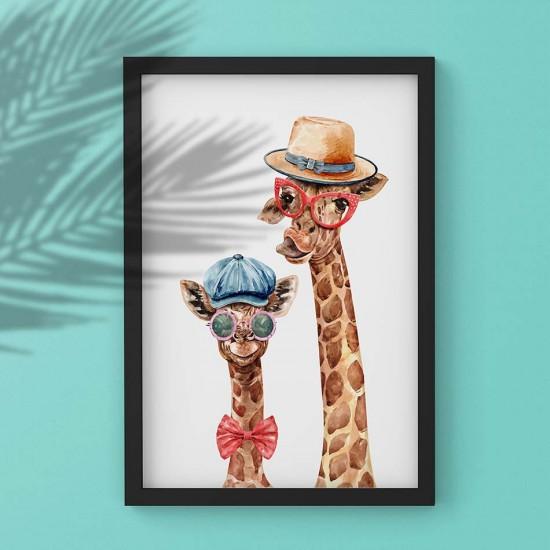 картина жирафи за детска стая