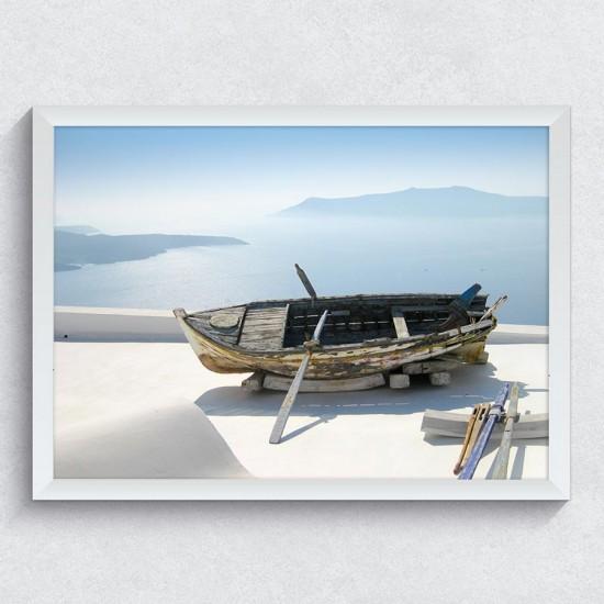 Самотна лодка - фото картина