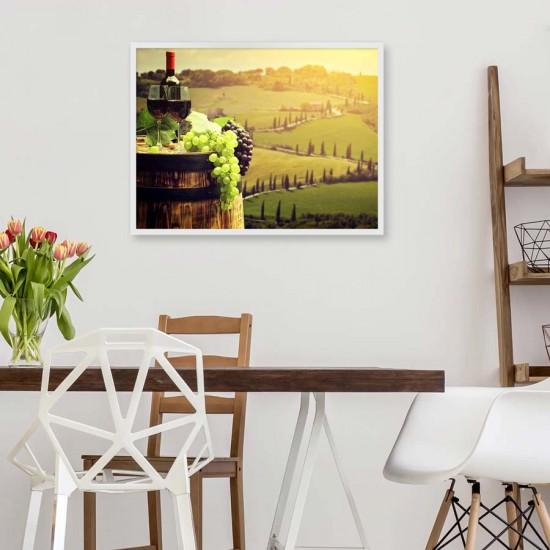 Вино в Тоскана - фото картина