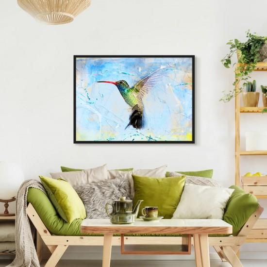 Колибри - фото арт пано  - Принт в рамка