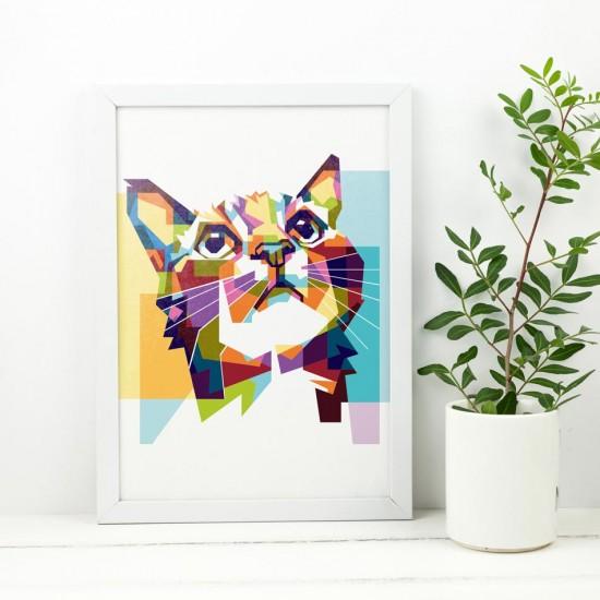 картина с рисувано коте