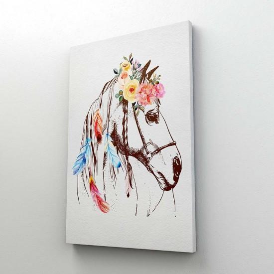 Романтичен кон - Бохо стил, Постер в рамка