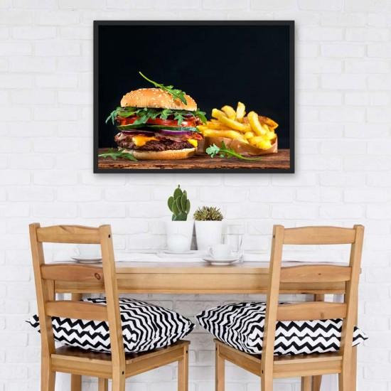 Бургер и картофки - Фото арт