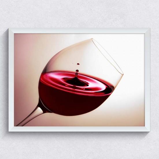 Чаша червено вино - фото пано канава или рамка