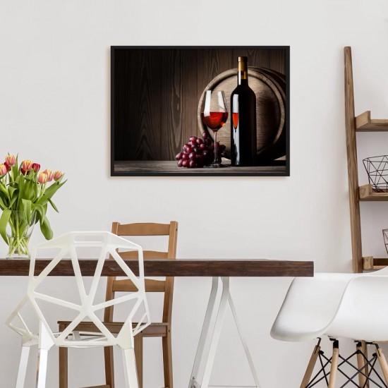 Натюрморт с червено вино - Фото арт
